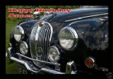 Personalised Classic Jaguar Greetings Card